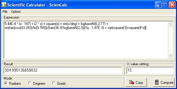 Scientific Calculator - ScienCalc Screenshot