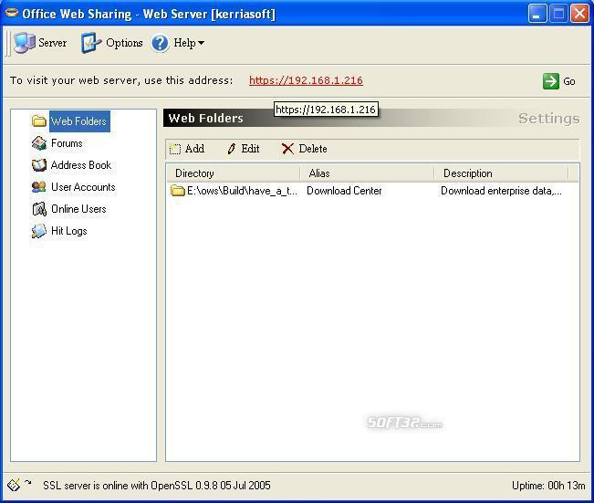 Office Web Sharing Screenshot