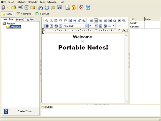 Portable Notes Screenshot