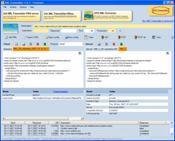 XML Transmitter Screenshot 7