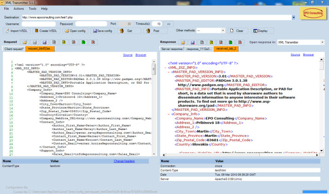 XML Transmitter Screenshot 1