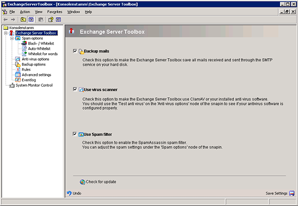 Exchange Server Toolbox Screenshot