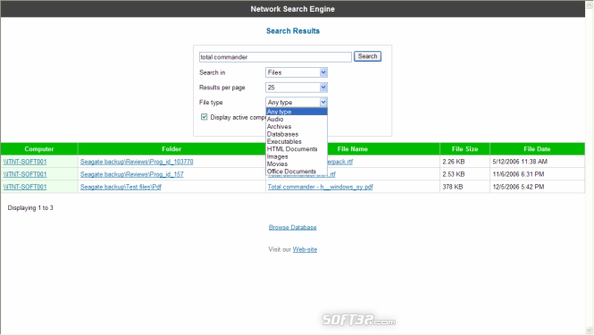SoftPerfect Network Search Engine Screenshot 3