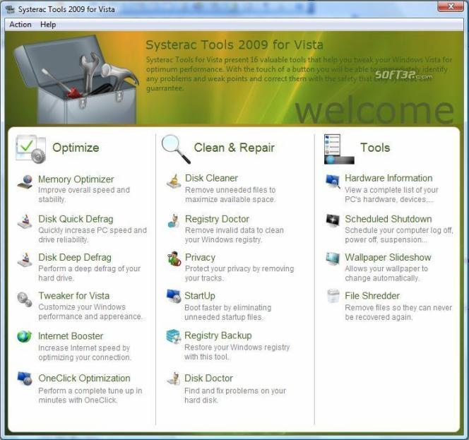Systerac Tools for Windows 7 Screenshot 3