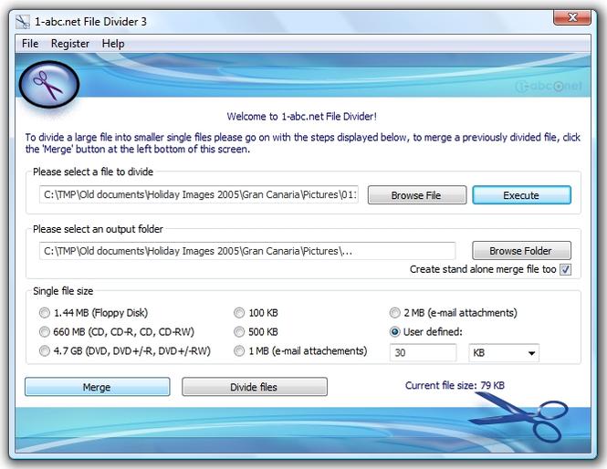 1-abc.net File Divider Screenshot 1
