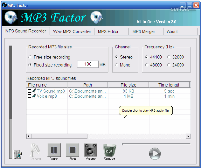 MP3 Factor Screenshot