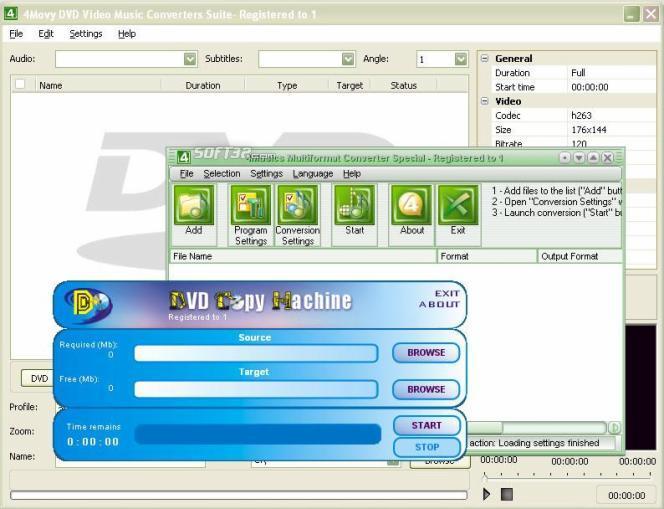 4Movy DVD Video Music Converters Suite Screenshot 1