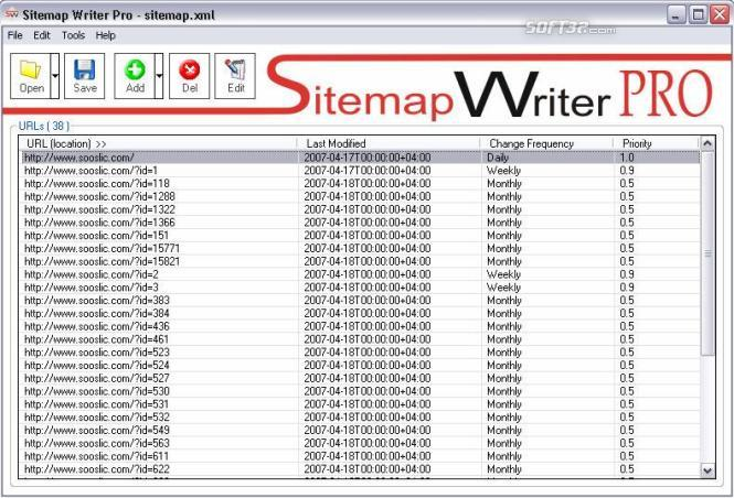Sitemap Writer Pro Screenshot 2