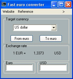 Tiny euro converter Screenshot