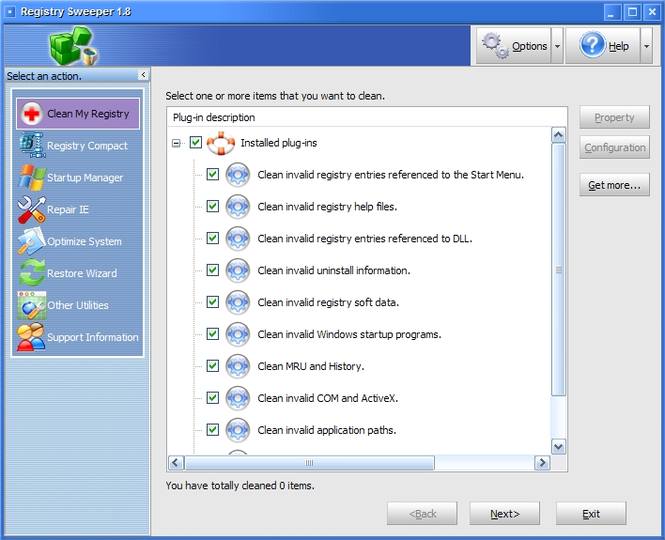 Registry Sweeper Screenshot