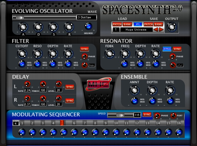 Space Synthesizer Screenshot