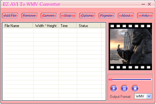 EZ AVI To WMV Converter Screenshot