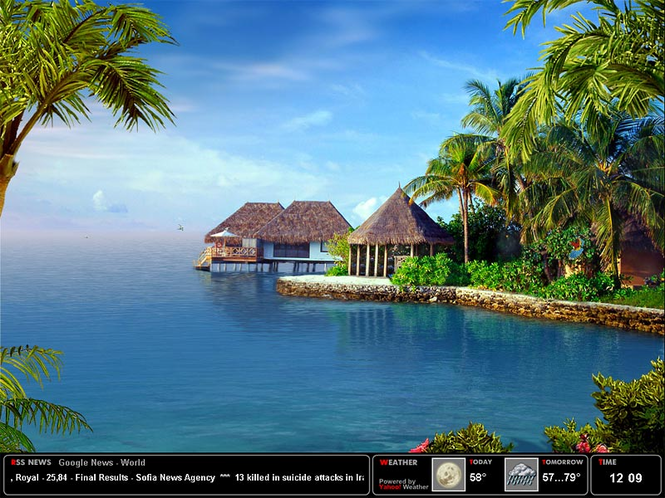 Tropical Dream Screensaver Screenshot 1