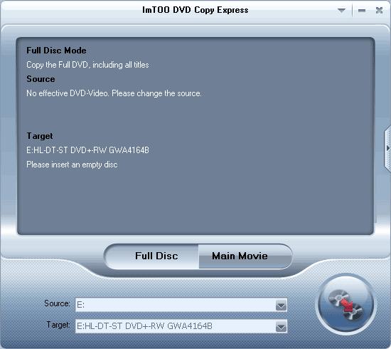 ImTOO DVD Copy Express Screenshot 2