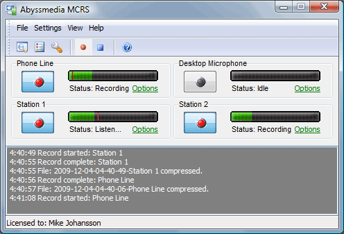 MCRS (Multi-Channel Sound Recording System) Screenshot