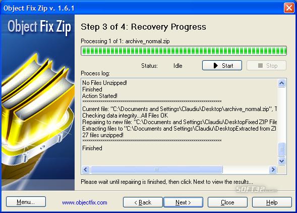 Object FIX ZIP Screenshot 3