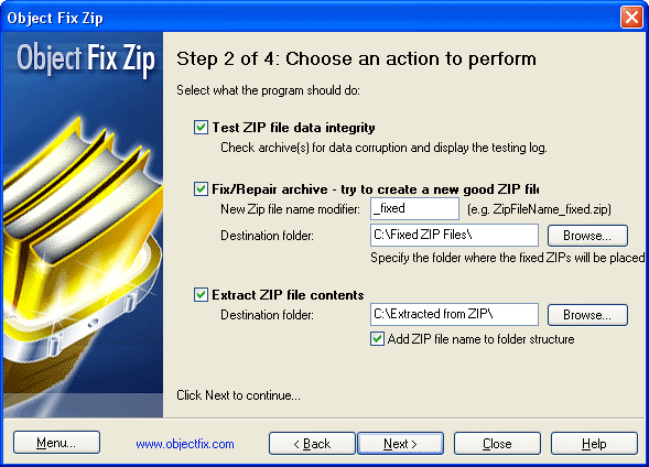 Object FIX ZIP Screenshot 1