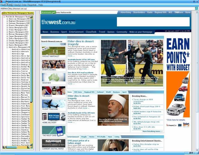 Worldwide Newspapers Reader Screenshot 3
