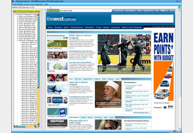 Worldwide Newspapers Reader Screenshot