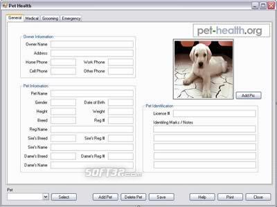 Pet Health Software Screenshot 2