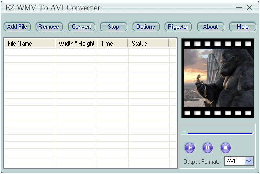 EZ WMV To AVI Converter Screenshot