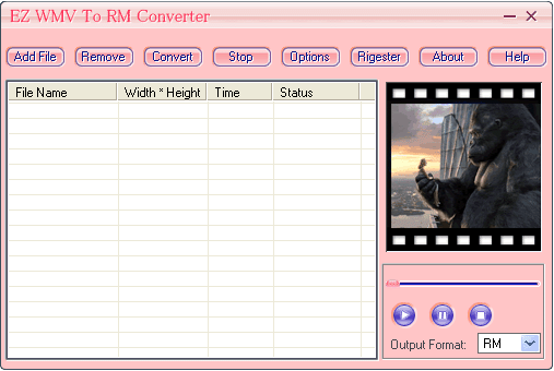 EZ WMV To RM Converter Screenshot