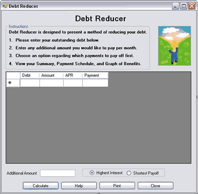 Debt Reducer Screenshot