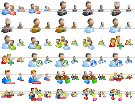 People Icons for Vista Screenshot
