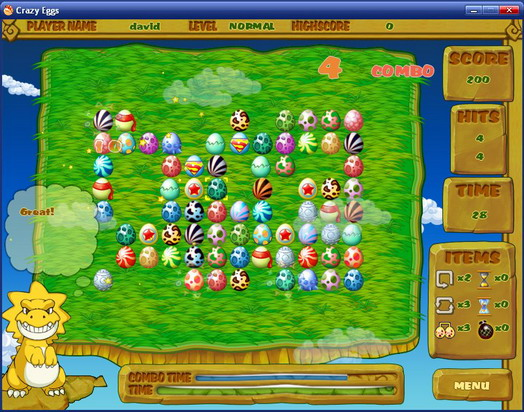 Crazy Eggs MAC Screenshot 1