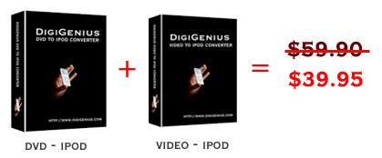 DigiGenius Digigenius DVD to iPod Converter + Video Screenshot 1