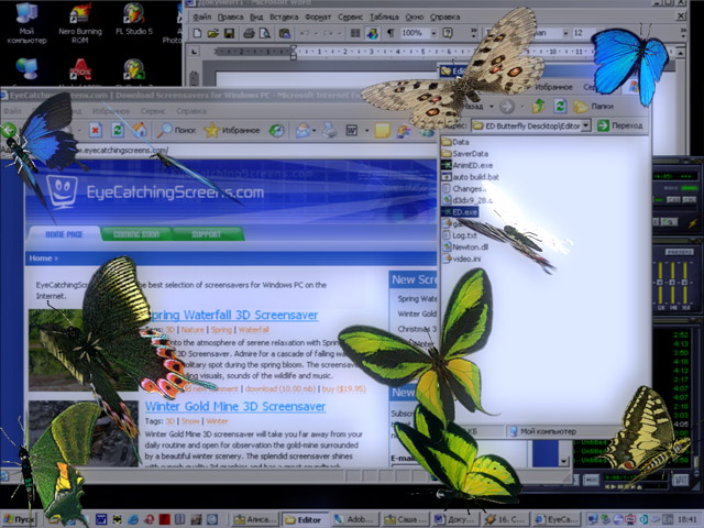 Butterfly Desktop 3D Screensaver Screenshot