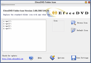 EfreeDVD Folder Icon Screenshot