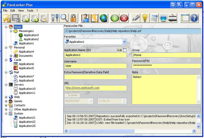 PassLocker Screenshot