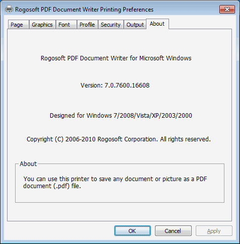 PDF Document Writer Screenshot