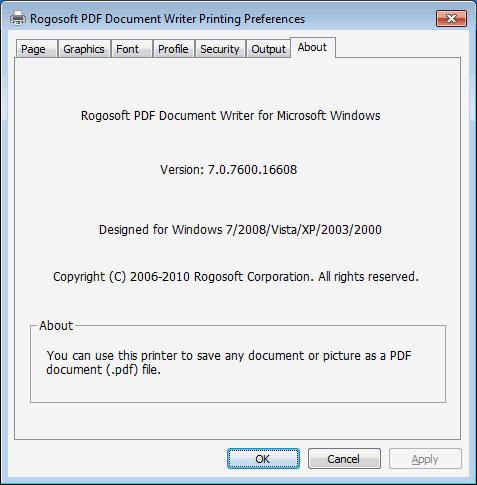 PDF Document Writer Screenshot 1