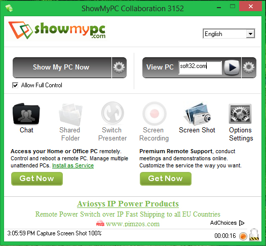 ShowMyPC Collaboration Screenshot