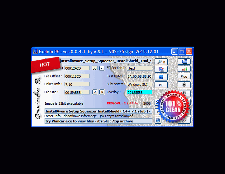 ExEinfo PE Win32 bit identifier Screenshot 2