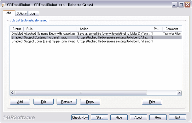 GRSoftware Email Robot Screenshot