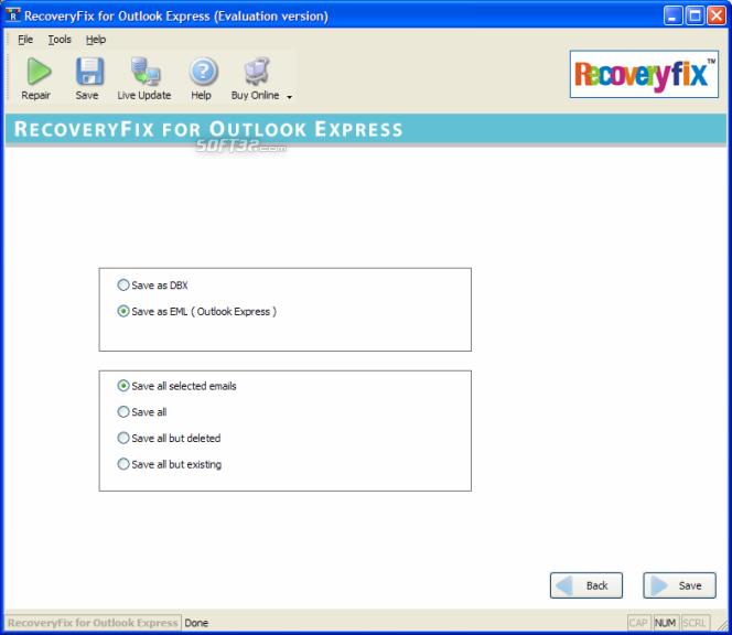 RecoveryFix for Outlook Express Screenshot 3