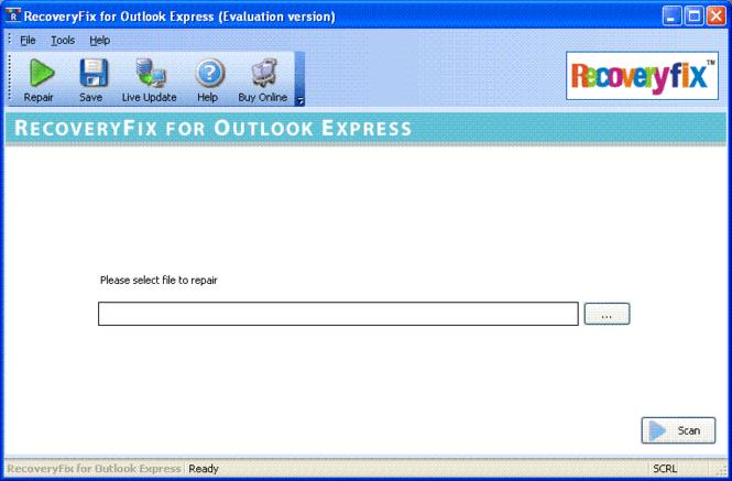 RecoveryFix for Outlook Express Screenshot 1