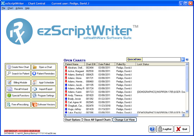 ezScriptWriter Screenshot
