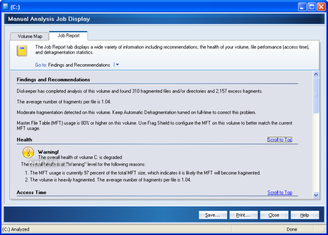 Diskeeper Professional Screenshot 3