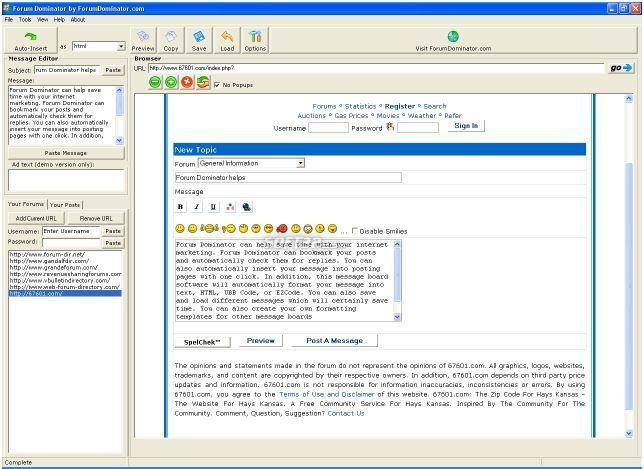 Forum Dominator Screenshot 3