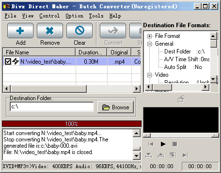 Divx Direct Maker Screenshot 1