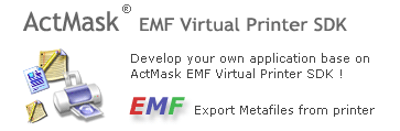ActMask EMF Virtual Printer Driver Screenshot