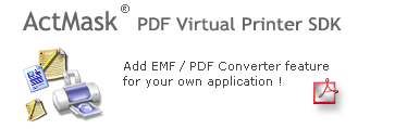 ActMask PDF Virtual Printer Driver Screenshot