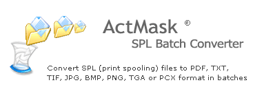 ActMask SPL (Spool) Batch Converter Screenshot 1