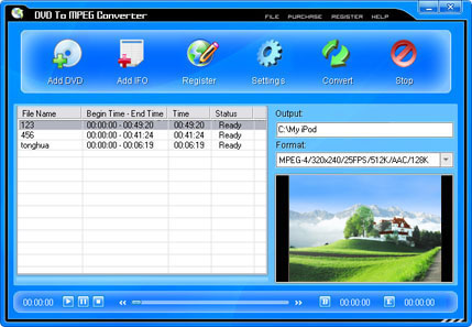 Pop DVD To MPEG Converter Screenshot