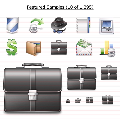 Finance Icons Vista Screenshot 1