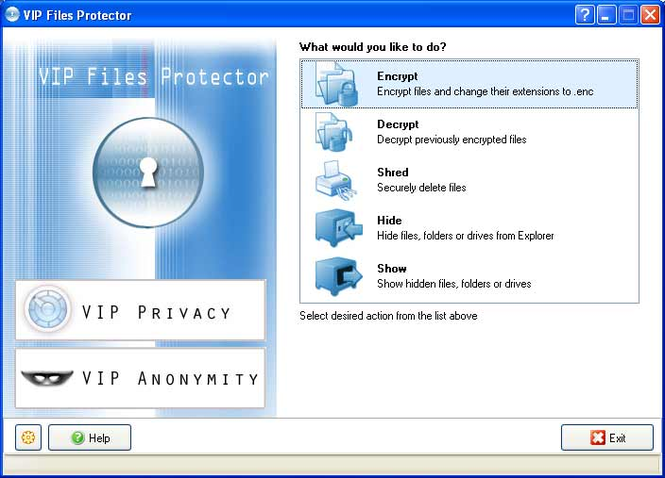 VIP Files Protector Screenshot